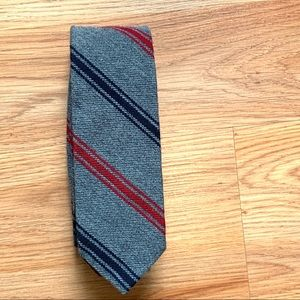 J. Crew Men's Wool Gray Striped Tie